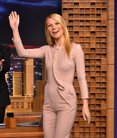 There's a Lot of Talk About Gwyneth Paltrow's Performance – and Nude Jumpsuit – on 'Tonight Show'