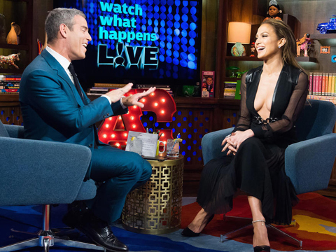 Jennifer Lopez Shows Lotsa Skin, Talks Exes on 'WWHL'