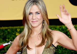 Holy Cleavage! See Jennifer Aniston's Dangerously Low-Cut Vintage Gown