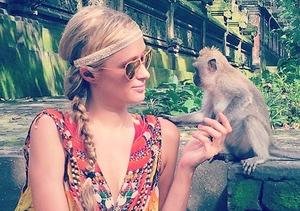 Paris Hilton Monkey Business in Bali... Yes, We Said It!