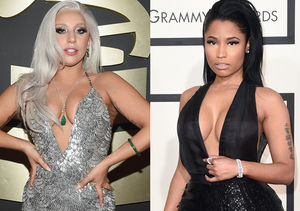 Grammys Cleavage Battle! Lady Gaga vs. Nicki Minaj