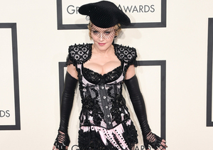 Madonna Hits Grammys Red Carpet as Sexy Matador… and Flashes Her Bum!