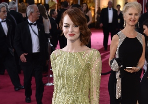 Emma Stone Wows in Elie Saab Gown