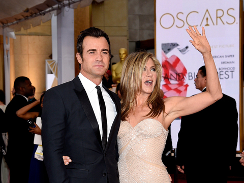 where did jennifer aniston and justin theroux meet