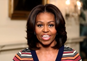 Michelle Obama Challenges Mario Lopez to #GimmeFive!