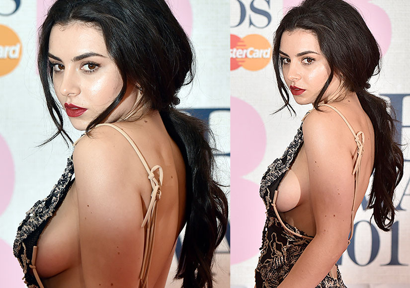 Holy Side-Boob! Check Out Charli XCX's Daring Dress at the BRIT Awards