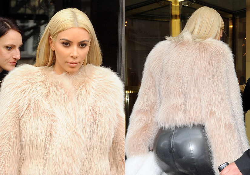 Someone Call Sir Mix-a-Lot: Kim K Steps Out in Booty-tastic Latex Pants