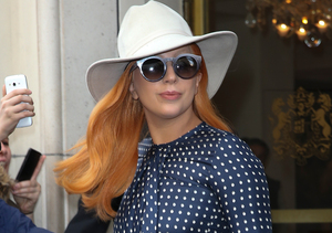 Carrot Top! Lady Gaga Goes Orange at Paris Fashion Week