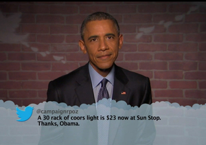 President Obama Takes Over Hollywood, Reads Mean Tweets on Kimmel