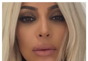 Kim Kardashian Plump Lips NO Filler