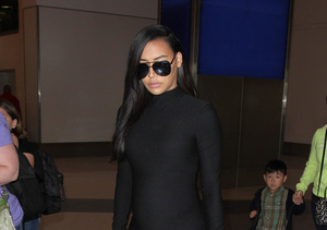 LBD Maternity! 'Glee' Star Naya Rivera Shows Off Baby Bump