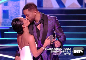 Watch! Jada Pinkett Smith Gets a Passionate Kiss from Husband Will at 'Black…