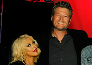 See Blake Shelton's Priceless Reaction to Christina Aguilera Beating Him on the…