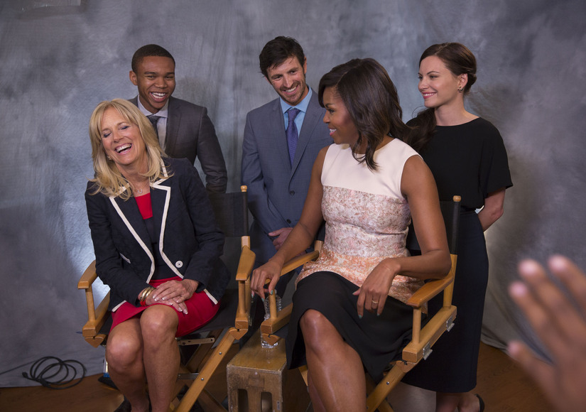 Michelle Obama, Jill Biden Join Forces with NBC's 'The Night Shift' to Promote Vets Health Initiatives