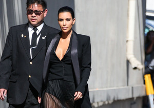 Kim Kardashian Bares It for Kimmel, Tells Bruce: 'Don't Steal My Glam…