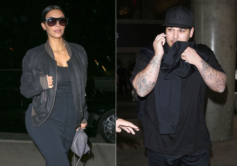 Kim Kardashian Calls Out Brother Rob's 'Bizarre' Behavior, Reveals He 'Won't Leave the House'