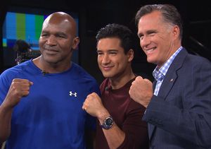 Mitt 'The Glove' Romney Fights Evander 'The Real Deal' Holyfield for…