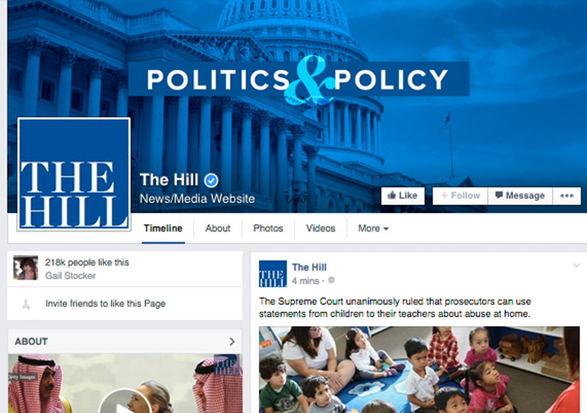 Wow! The Hill Impresses with Record-Breaking Facebook Engagement