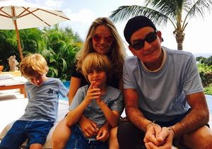 How Charlie Sheen Spent Father's Day