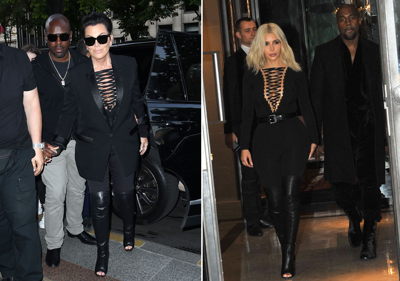 Fashion Faceoff: Kris Jenner Rocks Kim's Same Sexy Head-to-Toe Look!