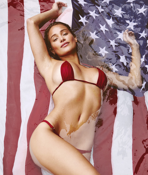 Swimsuit Supermodel Hannah Davis Gets Red, White and Hot for the 4th of July