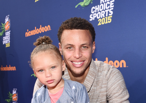 Too Cute! Stephen Curry's Daughter Riley Loves His Kids' Choice Sports Award…