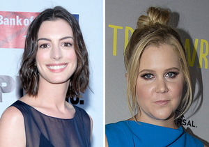 Anne Hathaway Fangirls Over Amy Schumer Despite Being Dissed in 'Trainwreck'