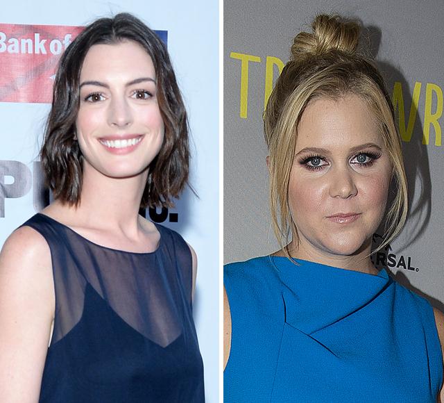 Anne Hathaway Fangirls Over Amy Schumer Despite Being Dissed in 'Trainwreck'