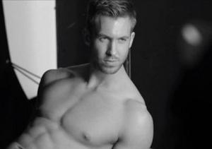 See Taylor Swift's BF Calvin Harris Model Underwear for Armani!