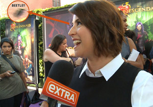 Watch a Beetle Attack 'Descendants' Actress Melanie Paxson on the Red Carpet