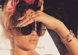 Rihanna Leads Celebrity Skinstagram Parade
