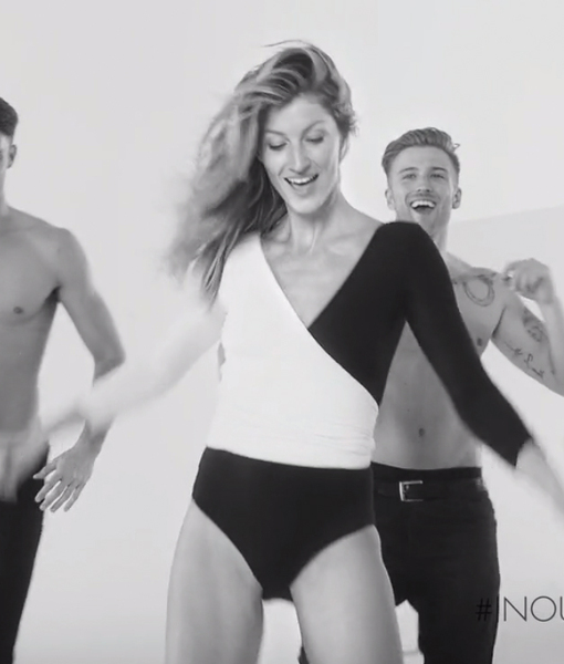 See Gisele Bündchen Do the Electric Slide with a Troupe of Sexy Male Dancers