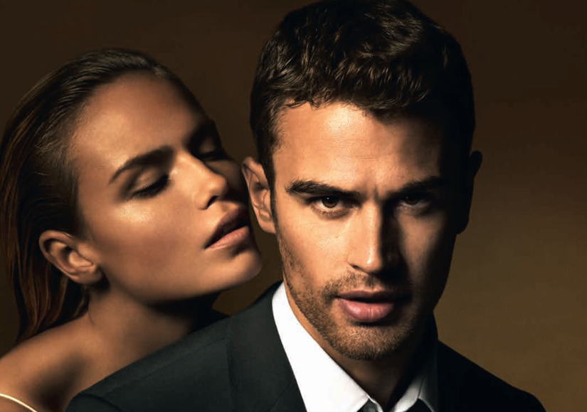 Theo James Channels Christian Grey in Hugo Boss Ad Campaign