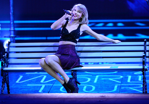 Taylor Swift Performs in Style Despite Violent Fan Run-In Onstage