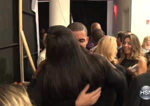 Serena Williams and Drake Backstage at Fashion Week