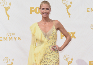 Heidi Klum is Sheer Perfection in Versace