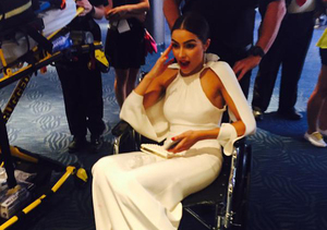 Video! Olivia Culpo Nearly Faints on the Emmys Red Carpet