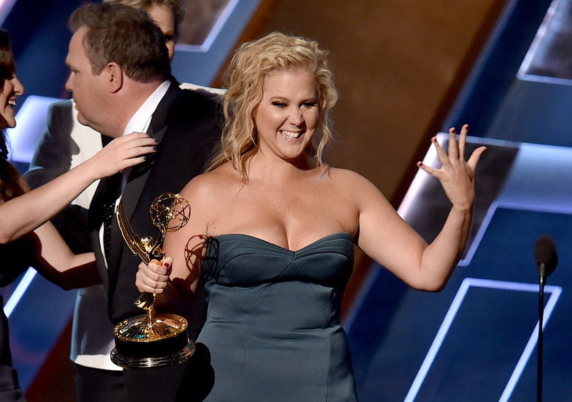 Emmy Winner Amy Schumer Says Getting Spanked by Madonna Was 'the Best Night of My Life'
