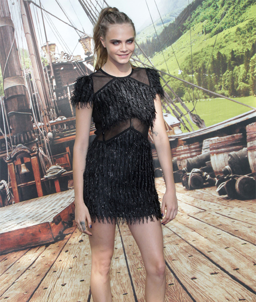 Cara Delevingne Suffers Major Wardrobe Malfunction at 'Pan' Premiere