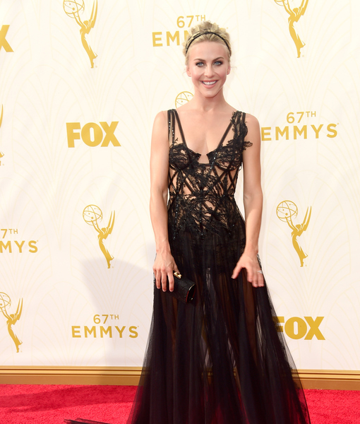 Julianne Hough Hits Emmys Red Carpet In Jaw Dropping Black Gown