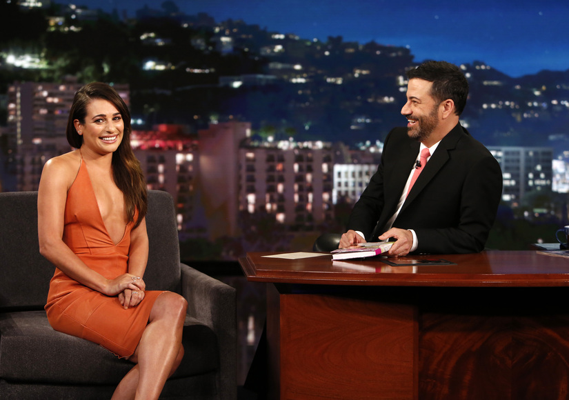 Jimmy Kimmel Reacts to Lea Michele's Cleavage-Baring Dress!