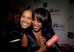 Alicia Keys Crashes Our Kerry Washington Interview on the Purple Purse Red…