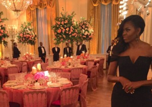 Michelle Obama Stuns at Star-Studded State Dinner