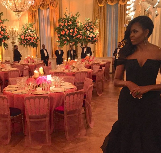 Michelle Obama Stuns at Star-Studded State Dinner
