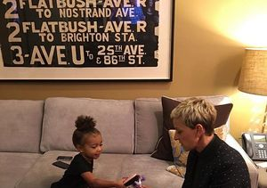 Cuteness Alert! North West & Ellen DeGeneres Play with My Little Pony