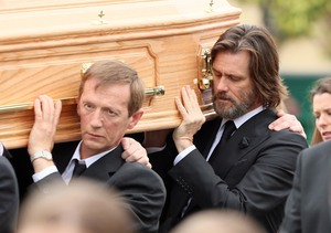 Jim Carrey Helps Lay Cathriona White to Rest