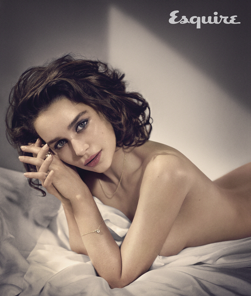 Holy Mother of Dragons! Emilia Clarke Goes Topless on Esquire's Sexiest Woman…