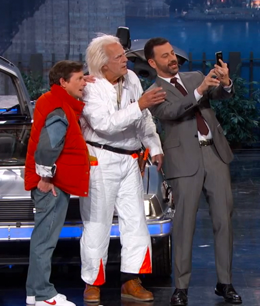 See the 'Back to the Future' Reunion on 'Jimmy Kimmel Live'