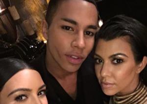 Designer Olivier Rousteing's Kardashian-Powered Birthday Bash