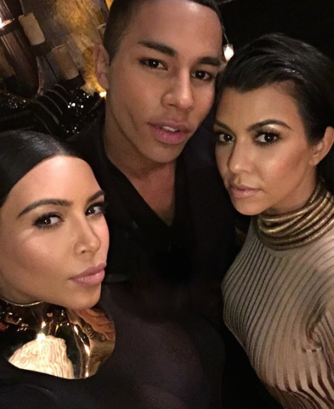 Designer Olivier Rousteing's Kardashian-Powered Birthday Bash